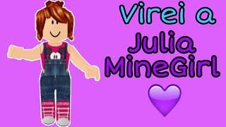 HO TURNED JULIA MINEGIRL INTO ROBLOX! 💜 ho trasformato uno YouTuber