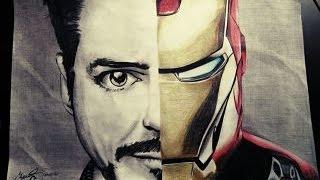 Drawing Iron man and Robert Downey jr ¡¡¡ AMAZING !!!