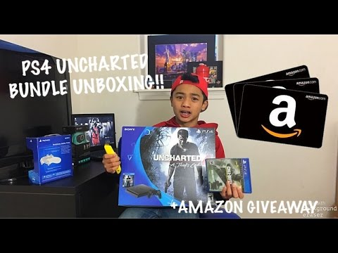 PLAY STATION 4 (PS4) BUNDLE UNBOXING!! UNCHARTED 4 EDITION + AMAZON GIVEAWAY!!