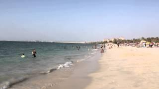 Dubaj - Plaża w parku Jumeirah Beach Park