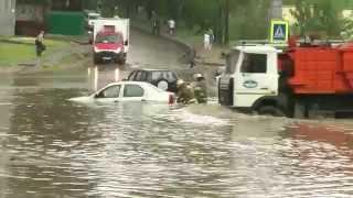Потоп в Смоленске 28 мая 2014 утонули автомобили ул. 25 Сентября(снято для - http://smolmir.ru/?p=5388 все права на видео принадлежат владельцам сайта - http://smolmir.ru http://smolmir.ru - всё что..., 2014-05-28T15:49:54.000Z)