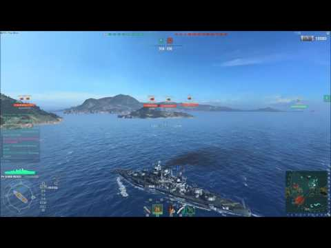 World of Warships: USN tier 3-7 Battleships top 5 (6) list.