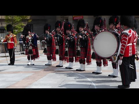 Scotland the Brave 1st Battalion Scots Guards Pipe Band Dundee Tayside Scotland