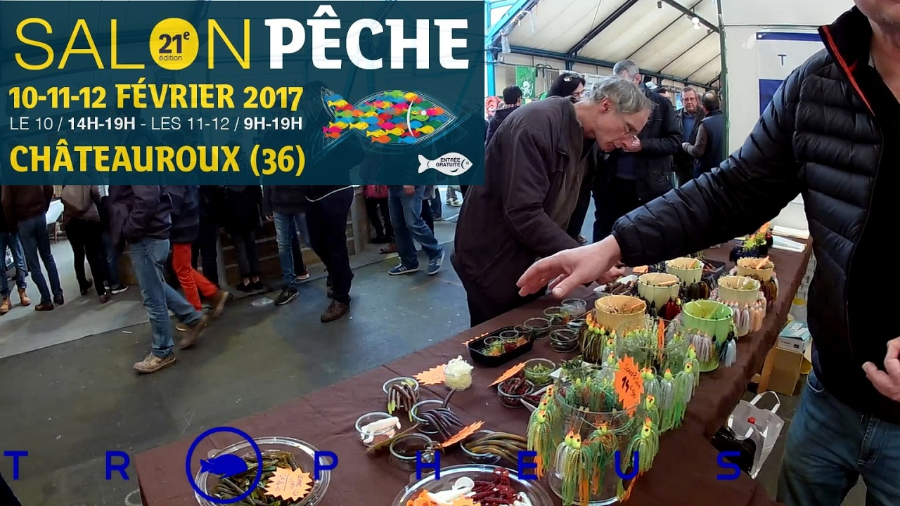 salon de la p che de ch teauroux 2017 youtube