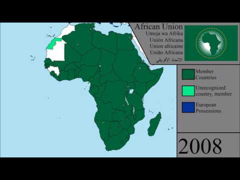African Union Map.The History Of The African Union Every Year Youtube