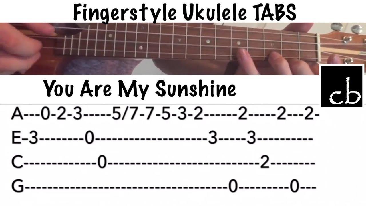 You Are My Sunshine Fingerstyle Ukulele Tutorial