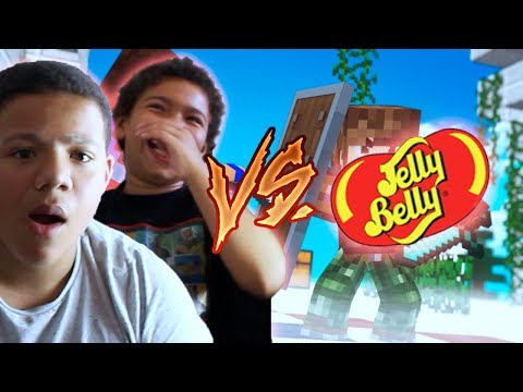 MES COUSINS VS JELLY BELLY ! (Challenge Minecraft)