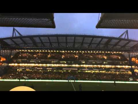 Chelsea vs Newcastle United: Light show at Stamford Bridge
