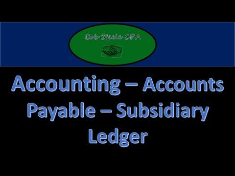 700 20 accounts payable subsidiary ledger accounting instructions