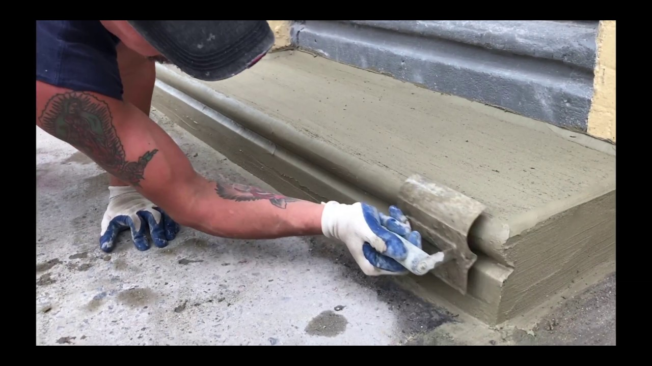 Beginners Learn To Repair One Concrete Step In 5 Min 4k Video And Cement Work