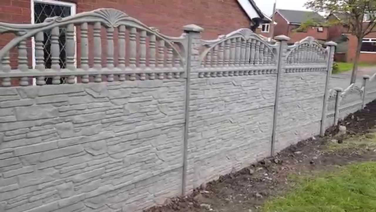P U0026a Fencing Decorative Concrete Fence Panels York