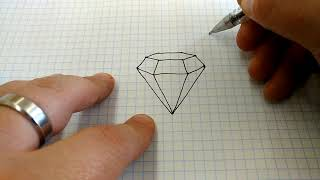 How to Draw a Diamond.