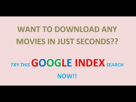 Download Any HD MOVIE in just 15 seconds TRY THIS GOOGLE'S INDEX SEARCH