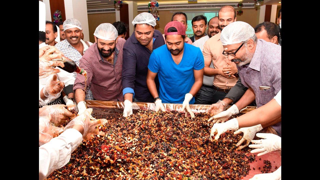 Asif Ali Actor Inaugurating Cake Mixing At Garuda Hotel Thrissur