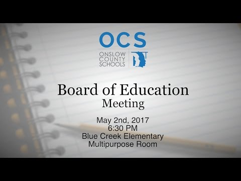Board of Education - May 2017