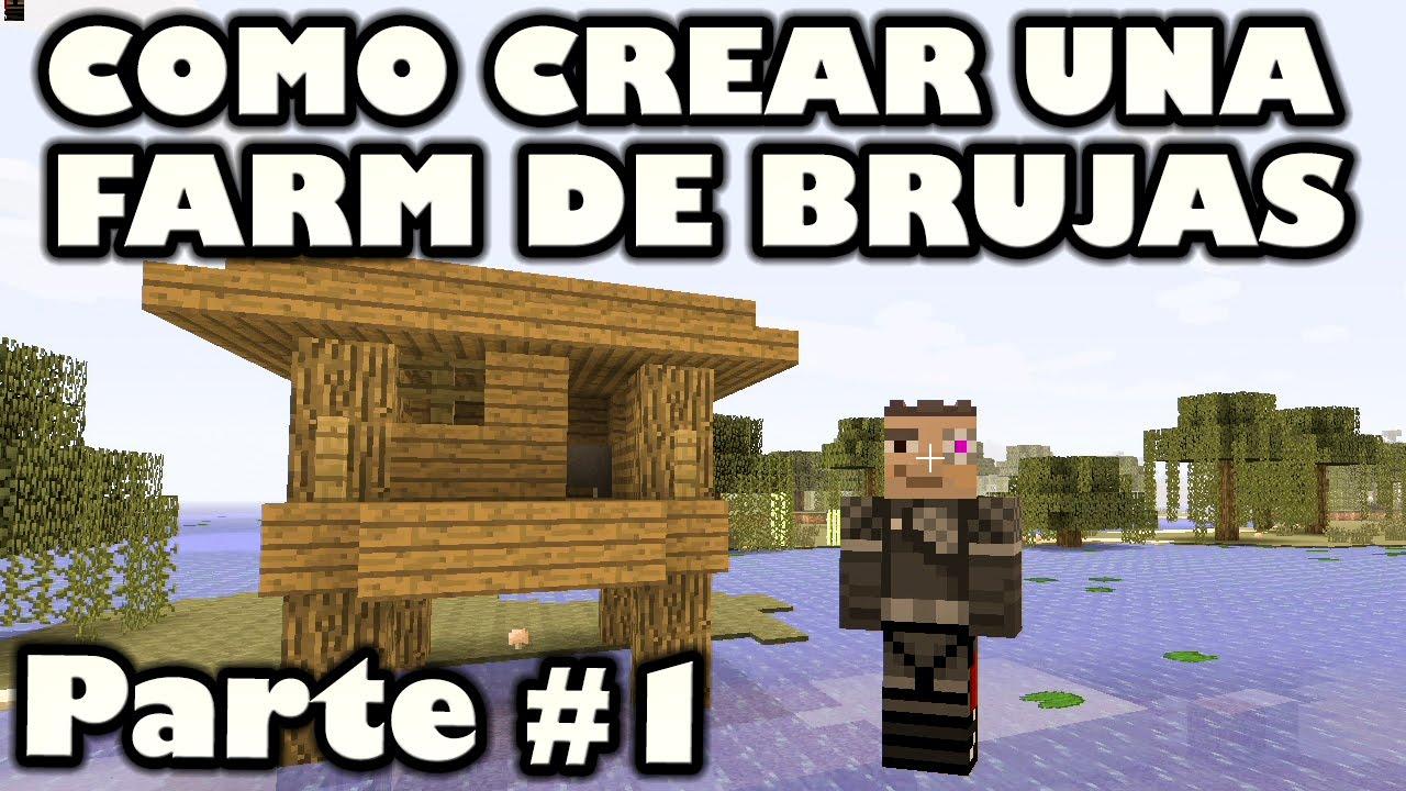 Como crear una granja de brujas parte 1 minecraft xbo for Como hacer una granja de peces