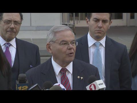 Sen. Bob Menendez Speaks Out After Mistrial Declared