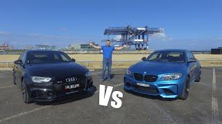 Small Sports Car Battle - 2018 AUDI RS3 Sedan VS BMW M2 Coupe