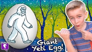 Giant YETI SURPRISE Eggs with HobbyKidsTV