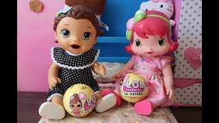 LIL SISTER SERIE 3 BABY ALIVE AMANDINHA E BABY MORANGUINHO. NOVELINHA DA BABY ALIVE.