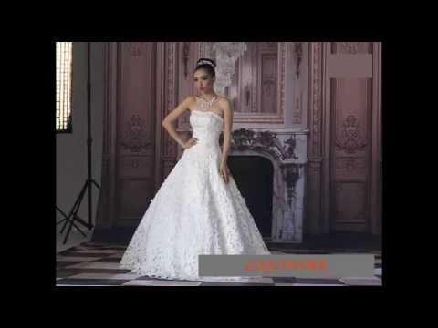 Handmade Ivory White Beaded Vintage Style Church Wedding Bridal Gown SKU-118269