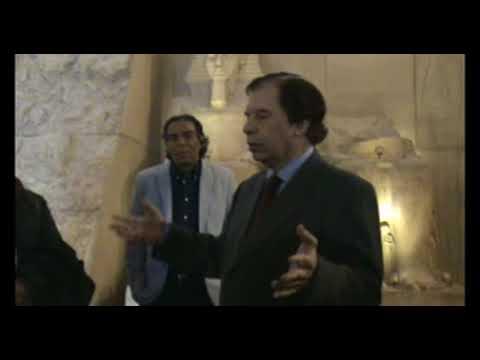 Hamdi Zaki, egiptólogo y exConsejero de Turismo en la exposición