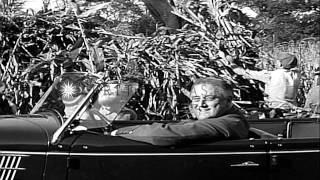 U.S. President Franklin Delano Roosevelt drives his grandchildren to a farm near ...HD Stock Footage