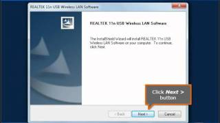 Procedure on how to Install USB Wireless Adapter in Windows 7