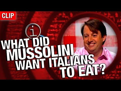 Thumbnail: QI | What Did Mussolini Want Italians To Eat?
