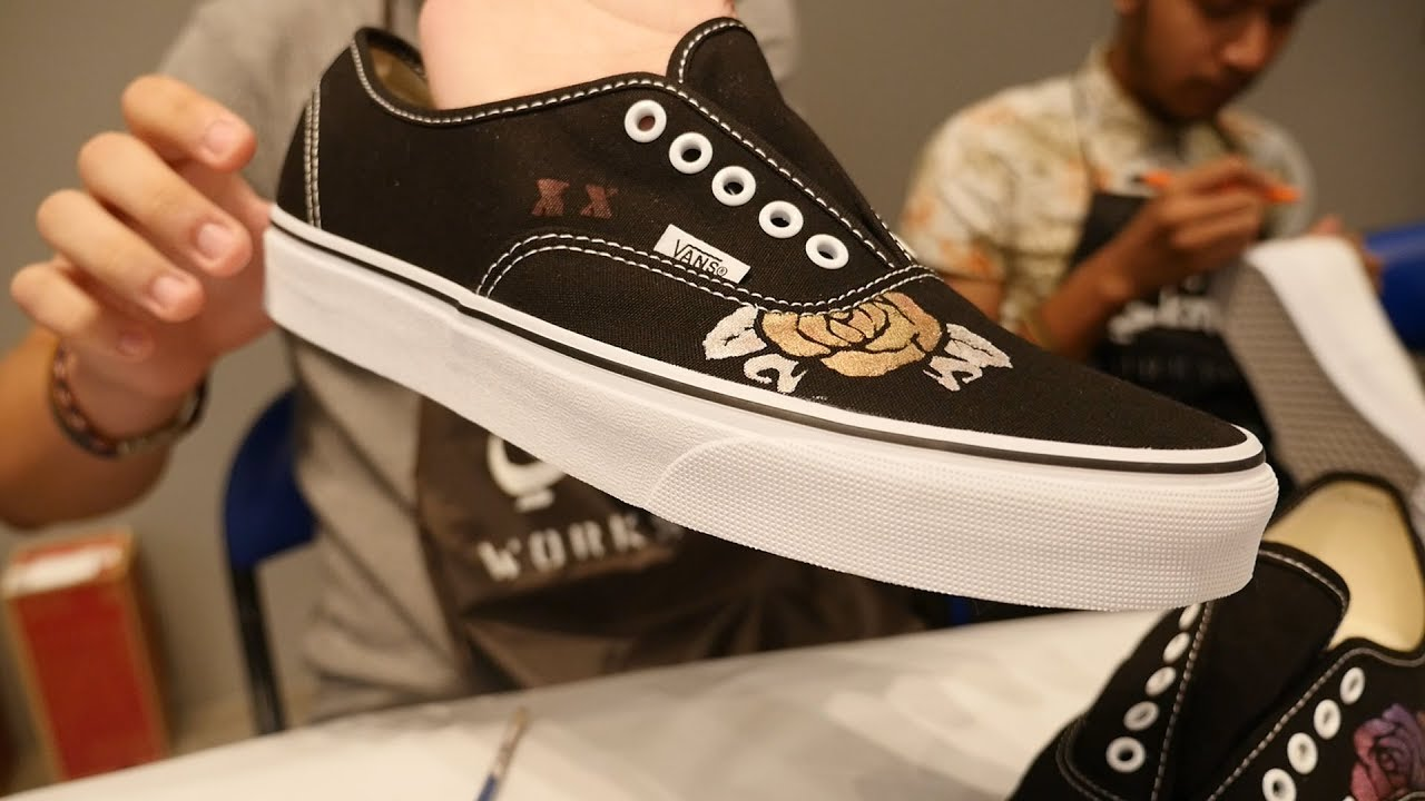 225b1266dc CREATING OUR OWN LIMITED EDITION VANS - YouTube