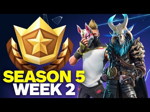 Fortnite: Score a Basket and Search Between an Oasis, Rock Archway, and Dinosaurs (Season 5 Week 2)