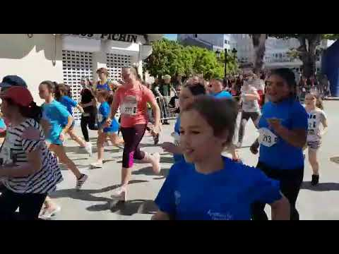 Alumnado á carreira en Vilalba polo Día das Letras  Galegas