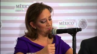 Conferencia de prensa #AeropuertoMex: Claudia Ruiz Massieu Salinas, Secretaria de Turismo 4/9/14