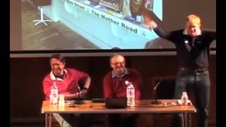 Science fiction and fantasy discussion.  Alastair Reynolds, Peter Ellis and James Christie.