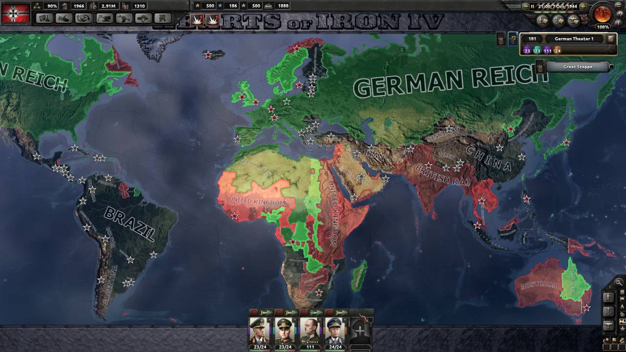 Hearts of Iron 4 - 100% Complete German Reich 2543 ...