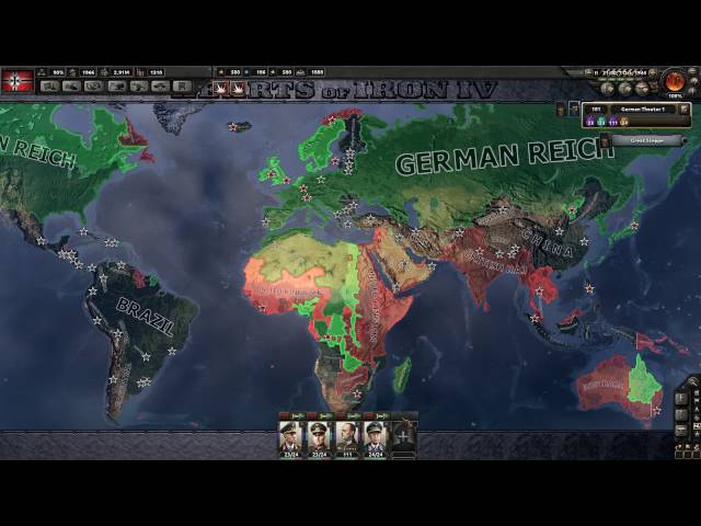 Hearts of Iron 4 - 100% Complete German Reich 2543 factories