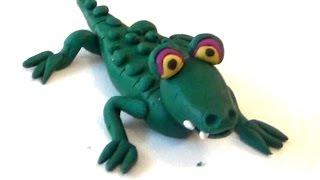 крокодил из пластилина своими руками поэтапно для детей