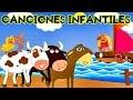 Las Mejores Canciones Infantiles: A mi burro, Patito cua cua, Vaca Lola, Bajo un Botón, 2 Pececitos