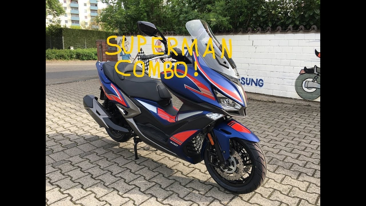 Kymco Xciting S 400i ABS - Wrapping Project Superman Combo - Blue, Red,  Silver