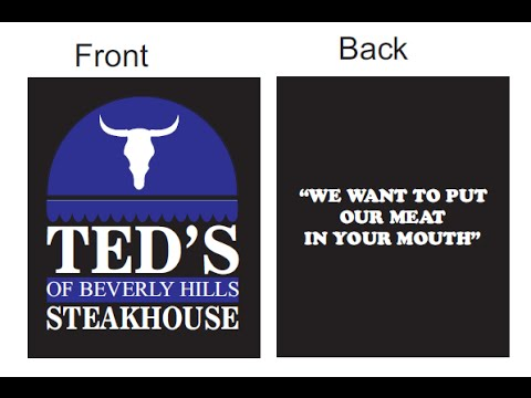 Ted's Of Beverly Hill's New Slogan
