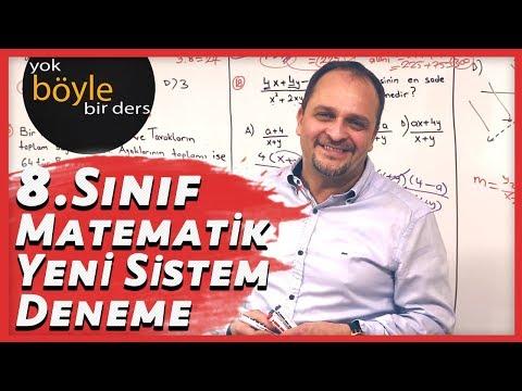 8.Sınıf - Matematik Yeni Sistem Deneme Sınavı 1