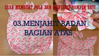 Cara Membuat Pola Dan Menjahit Baju Dress Romper Bayi BAGIAN 3 MENJAHIT BADAN BAGIAN ATAS