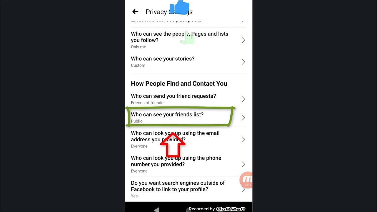 #Shorts Facebook Me Friend List Kaise Chupaye | फेसबुक फ्रेंड लिस्ट कैसे छुपाए | कोईभीनादेखपाएं