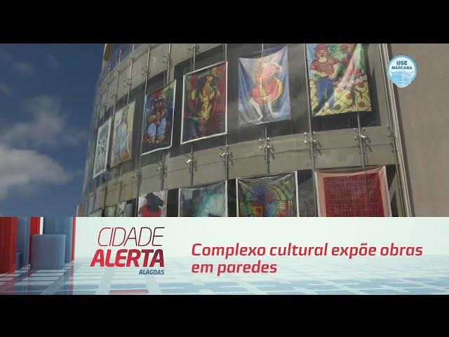 Complexo cultural expõe obras em paredes que podem ser vistas da rua