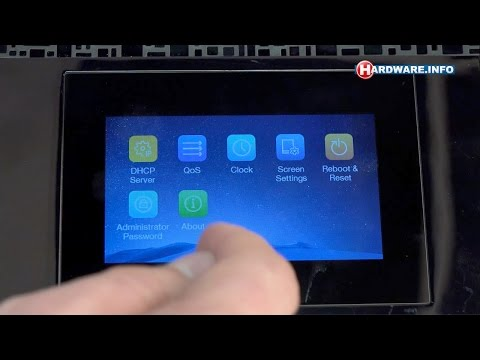TP-Link Touch P5 touchscreen router review - Hardware.Info TV (Dutch)