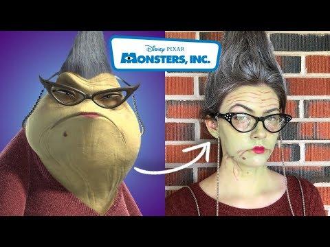 Roz Monsters Inc Halloween Makeup Tutorial - YouTube