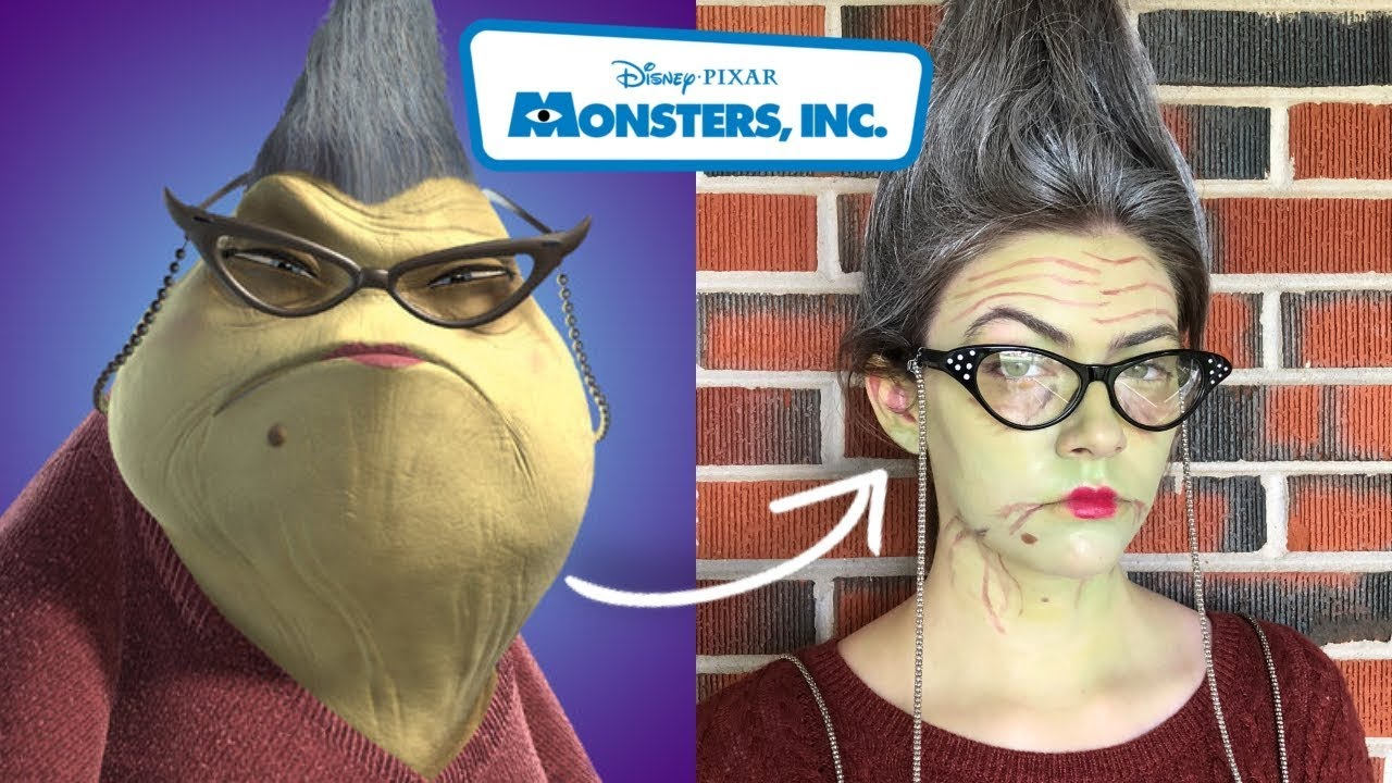 roz monsters inc halloween makeup tutorial - youtube