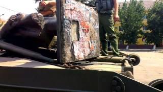 Lenin scos din fața Palatului Culturii #Ucraina