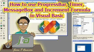 How to use ProgressBar, Timer, MessageBox and Increment Formula in Visual Basic