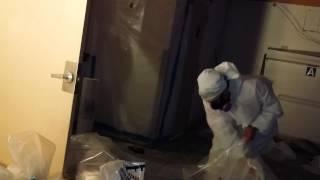 Asbestos double bagging